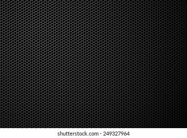 Black mesh metallic fiber texture