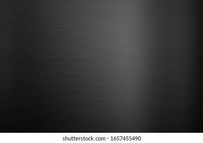 Black metal background or texture with light reflection