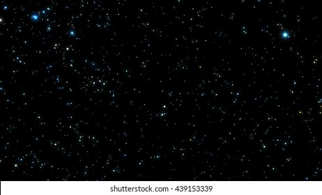Black Night sky with bright stars. Constellation. illustration.