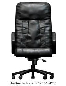 Black Office Chair 2D Game Art