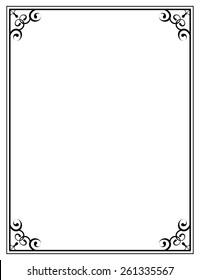 black ornate frame on a white background png12 black