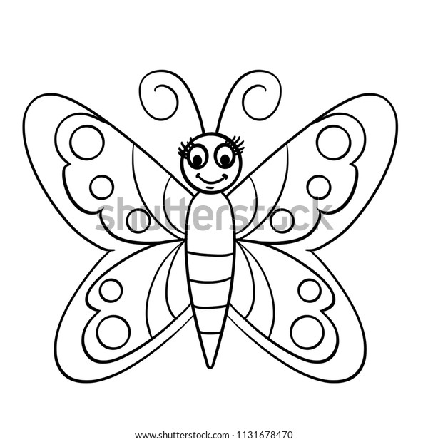 coloring pages of butterflies and caterpillars animated | Black Outline Butterfly Coloring Cartoon Butterfly Stock ...