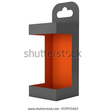 black paper hanging open box packaging stock illustration 459955663