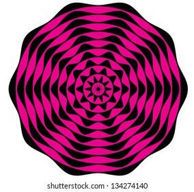 Black and Pink Circular Style Pattern
