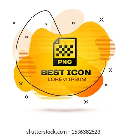 Black PNG file document icon. Download png button icon isolated on white background. PNG file symbol. Fluid color banner