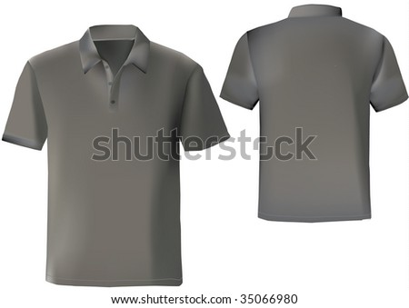 Black Polo Shirt Design Template Front Stock Illustration 35066980