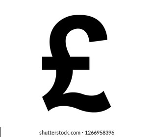 Black pound symbol on white background