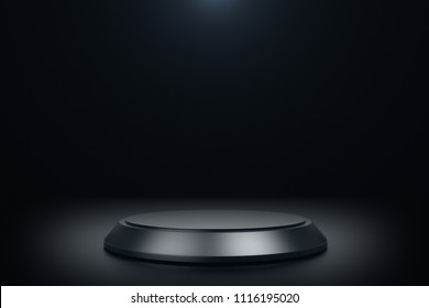 Black Product stand 3D rendering