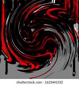 Black, Red, and Grey Spiral