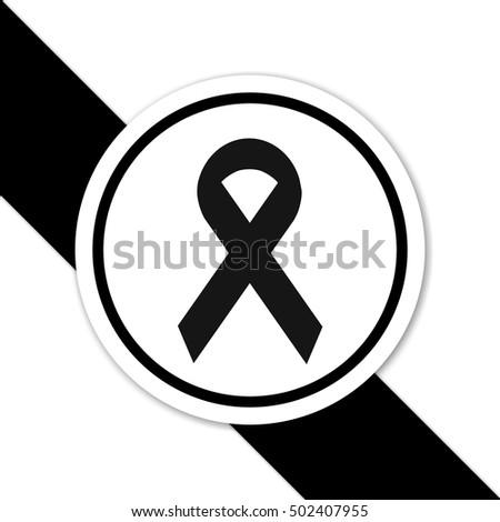 Royalty Free Stock Illustration Of Black Ribbon Symbol Mourning