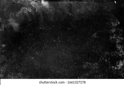 Black scratched grunge background, old film effect, distressed obsolete texture