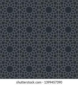 Фотообои Black seamless texture with arabic geometric ornament. Decorative pattern