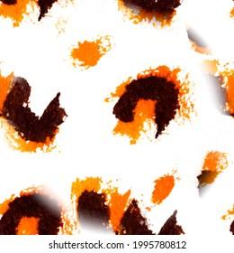 Black Seamless Zoo.  White Zebra Print. Repeat Tiger. Braun Background Print. Orange Texture Print. Orange Stripes Skin. White Design Ink. Black Animal Skin. Braun Leopard Wild.