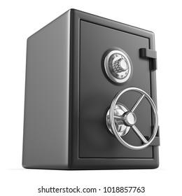 Black Security Safe. 3D render