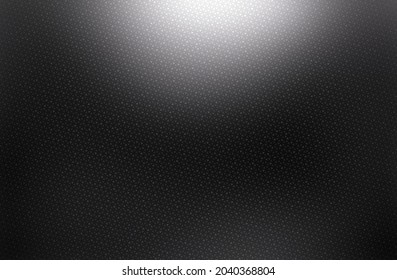 Black shimmering textured background with illuminated top. Small grid pattern.
