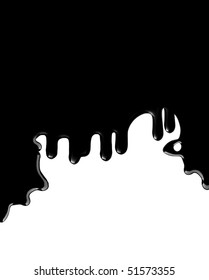 black shiny dripping ink