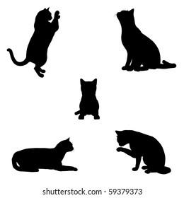 black cat silhouette clipart images stock photos