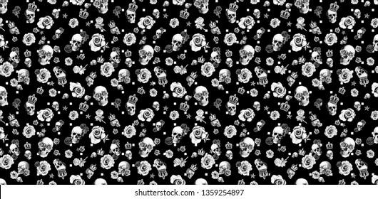 black skul pattern