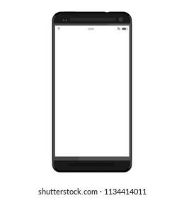 Black smartphone mockup phone