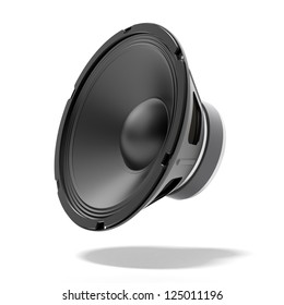 Black speaker isolated on a white background