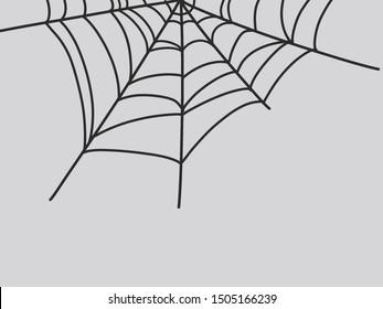 black spider web for halloween decoration