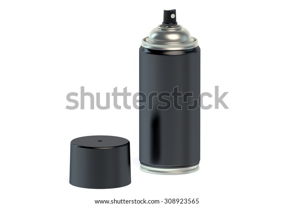 Black Spray Paint Can Isolated On Stock Illustration 308923565