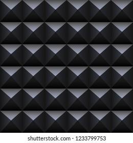 Black square seamless pattern.