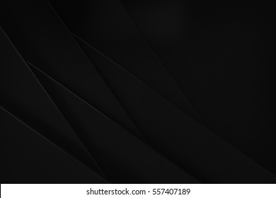 black stack weave paper material layer background 3d render