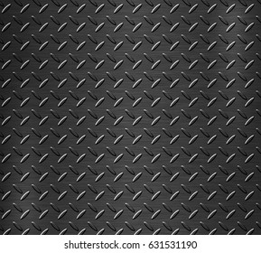 Black Steel metal or background of metal.