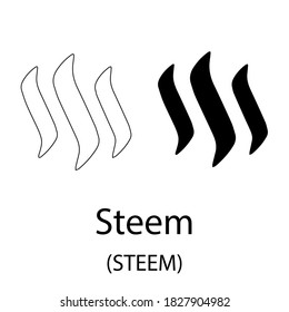 Símbolo criptodivisa de color negro aislado en fondo blanco