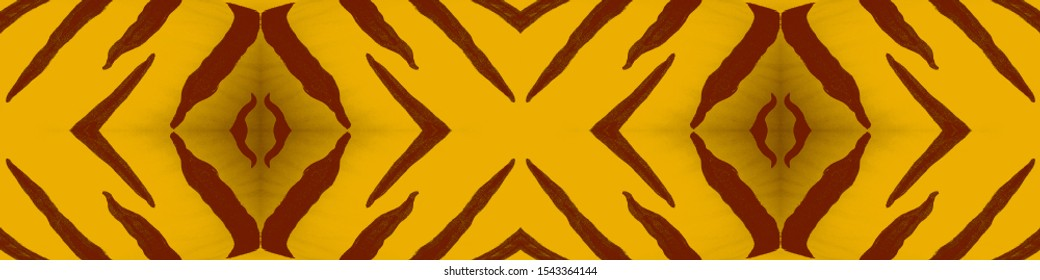 Black Stripes. Safari Fashion Ornament. Black Stripes on Orange Background. Trendy Tiger Pattern. Colorful Camouflage. Orange Luxury Clothing. Seamless Texture. Savannah Stylish Fabric.