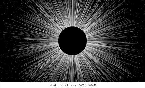 Black Sunrise, 3d illustration
