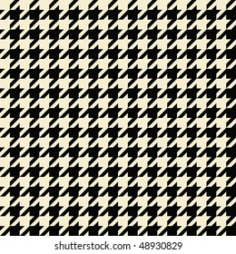 Black and tan colored seamless houndstooth pattern or texture.