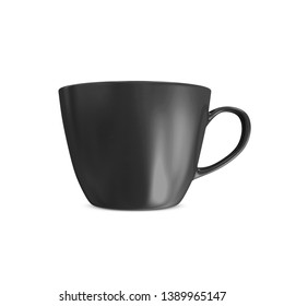 Black Tea Cup Mockup Design isolated on white background. 3D Rendering