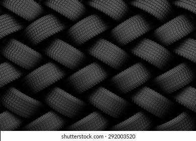 Black tire rubber, vehicle part, spare part.