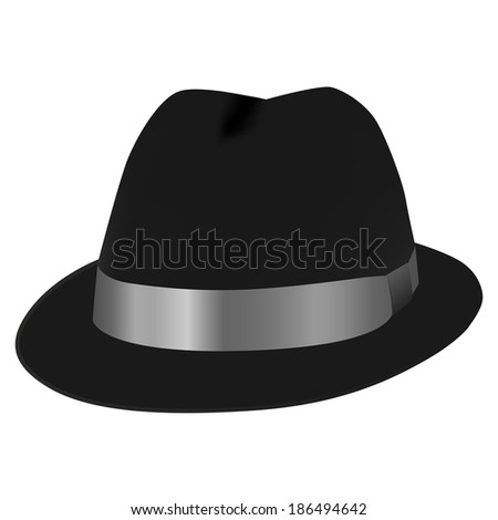 0dd5ac514 Black Top Hat Illustration Isolated On Stock Illustration 186494642 ...