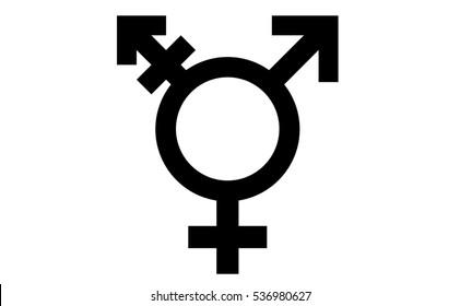 black transexuel gender sex symbol isolated