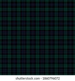 Black Watch Modern Tartan Seamless Pattern - Repeating pattern design of Modern tartan
