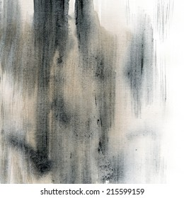 Black watercolor background on grunge paper texture