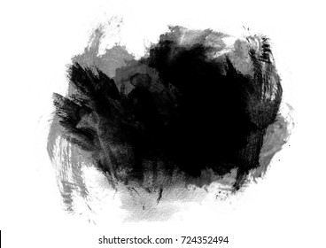 Black watercolor background stain with watercolor paint and brush strokes.