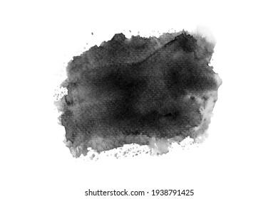 black watercolor paint stroke background