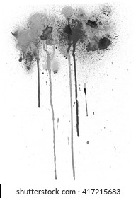 Black watercolor stain