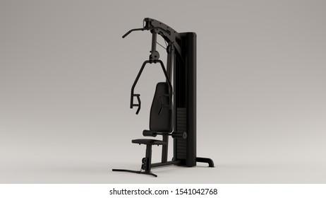 Black Weights Machine 3d illustration 3d render