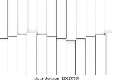 black and white abstract background with cube and wave 3D illustration