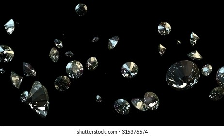 Black and white background of glittery diamonds