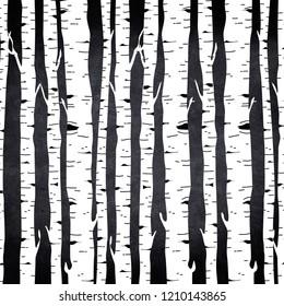 black and white birch forest backround