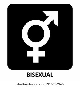 The black and white bisexual symbol illustration