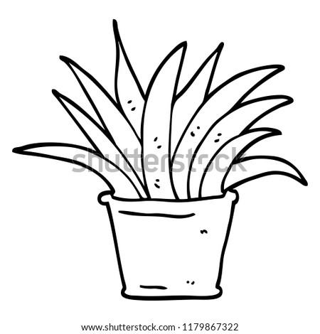 black white cartoon house plant stock illustration 1179867322 Black and White Cartoon Clip Art black and white cartoon house plant