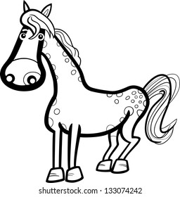 Rocking Horse Coloring Book Vector Illustration Isolated On Stock