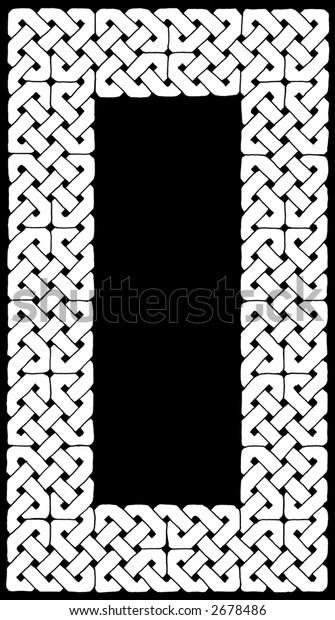 Black and White Celtic Knotwork Border